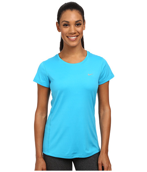 Nike - Dri-FIT Miler Short Sleeve Top (Blue Lagoon/Reflective Silver) Women