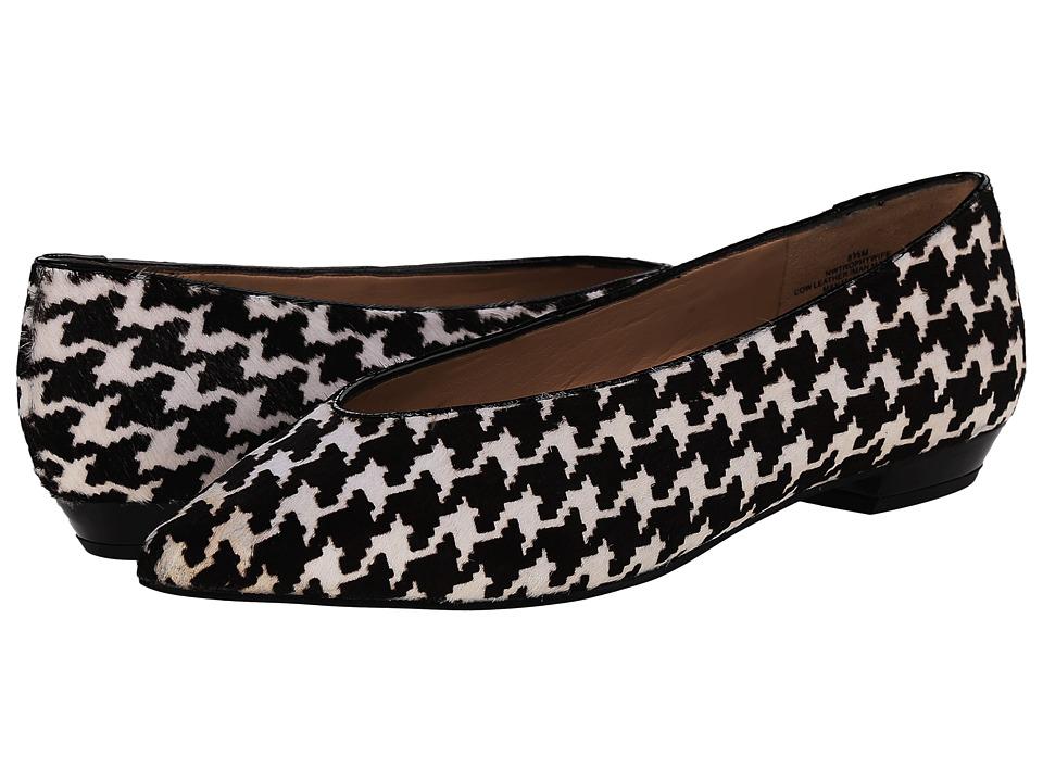 Nine West - Trophywife (Black White/Black Pony) Women's Flat Shoes