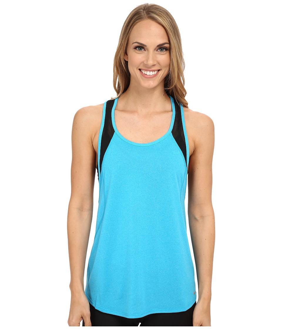 Nike - Dri-FIT Crew Tank Top (Blue Lagoon/Black/Reflective Silver) Women's Sleeveless