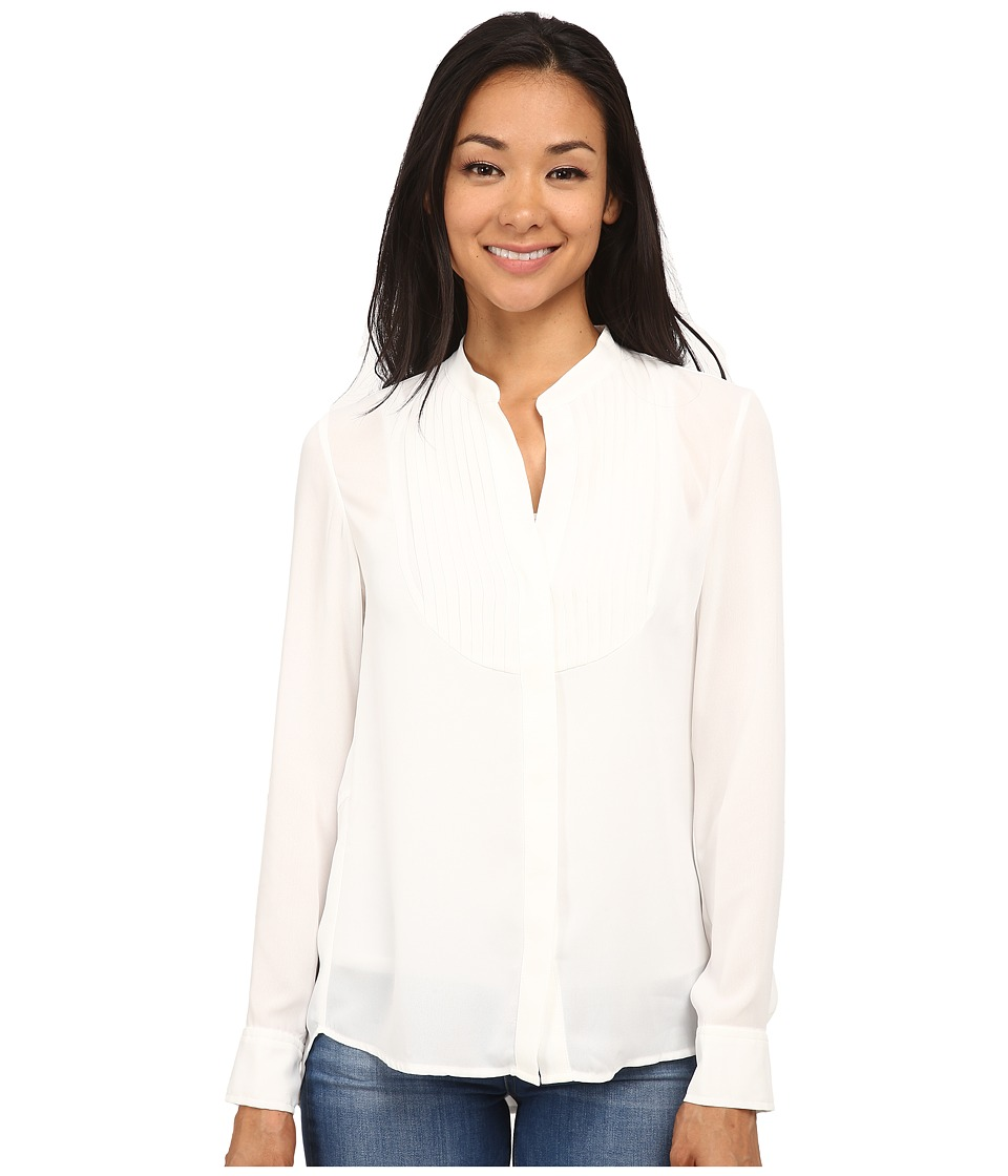 Sam Edelman - Pleated Bib Blouse (Ivory) Women's Blouse