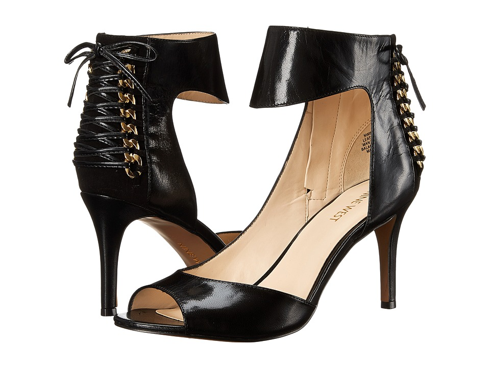 Nine West - Instruct (Black/Black Leather) High Heels