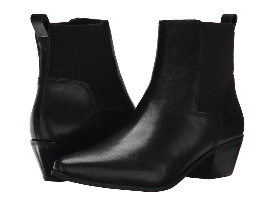 Nine West - Travers (Black/Black Leather) Women's Pull-on Boots