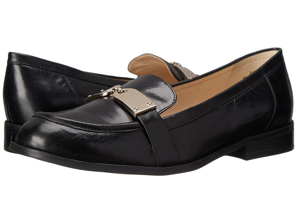 Nine West - Townhall (Black Leather) Women's Slip on Shoes