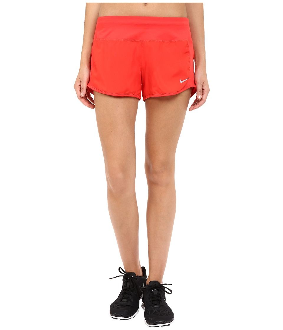 Nike - Dri-FIT Crew Shorts (Light Crimson/Light Crimson/Reflective Silver) Women's Shorts