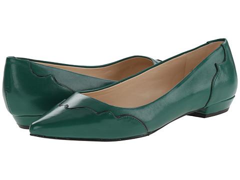 Nine West - Tie-Dye (Green/Black Leather) Women's Flat Shoes