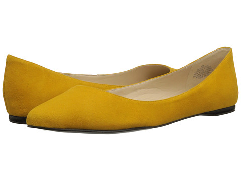 Nine West - SpeakUp (Yellow Suede) Women's Dress Flat Shoes