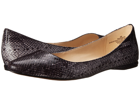 Nine West - SpeakUp (Black Reptile Synthetic) Women's Dress Flat Shoes