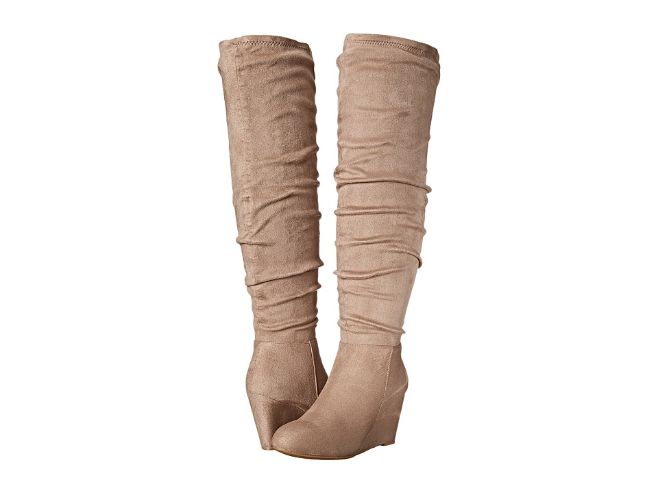 Chinese Laundry - Upside Over the Knee Wedge Boot (Toffee) Women's Boots