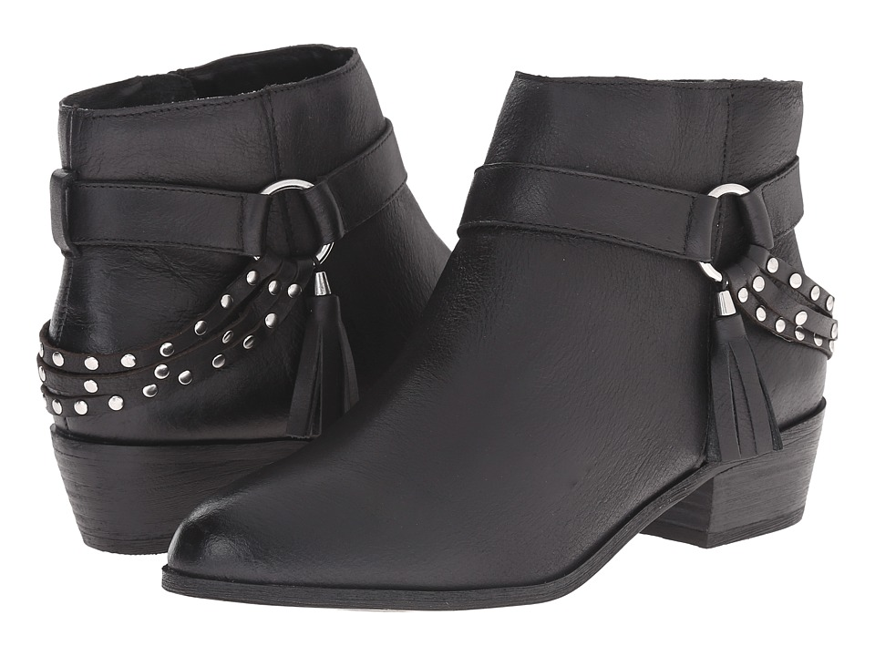Chinese Laundry Seasons Leather Ankle Boot Black Womens Boots
