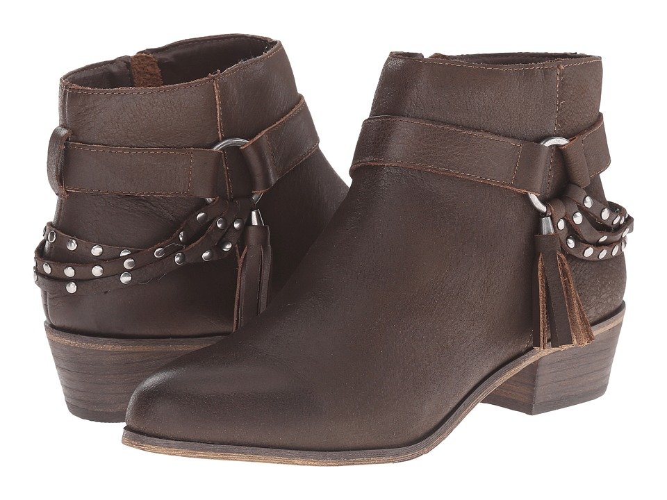 Chinese Laundry - Seasons Leather Ankle Boot (Brown) Women's Boots