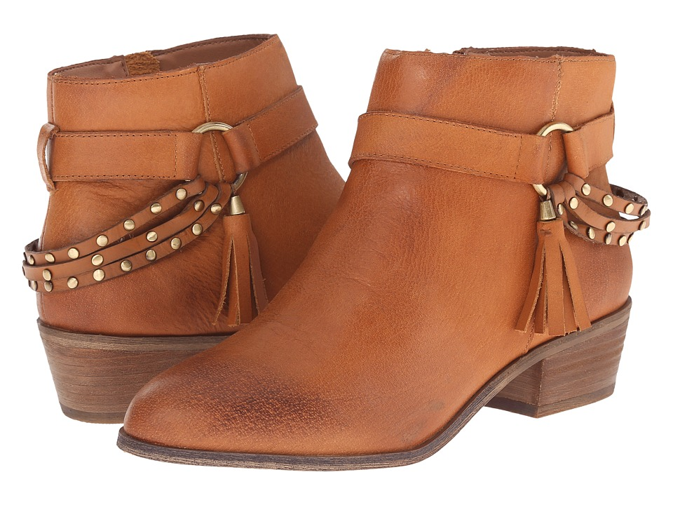 Chinese Laundry Seasons Leather Ankle Boot (Cognac) Women