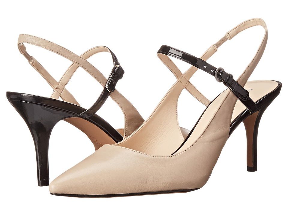 Nine West - Klaiman (Light Natural/Black Leather) High Heels