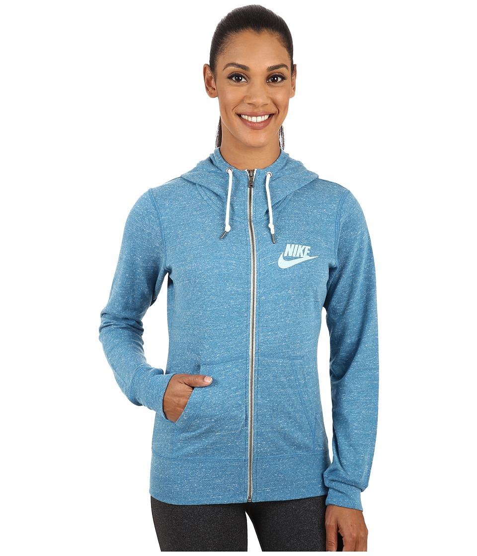 Nike - Gym Vintage Full-Zip Hoodie (Stratus Blue/Sail) Women