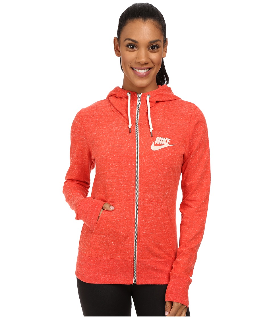 Nike - Gym Vintage Full-Zip Hoodie (Light Crimson/Sail) Women's Sweatshirt