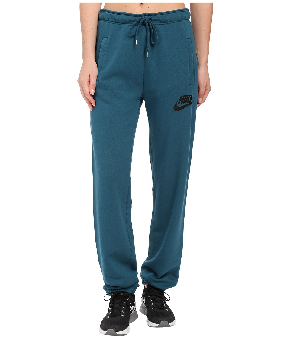 Nike - Rally Loose Pant (Teal/Teal/Black) Women's Casual Pants