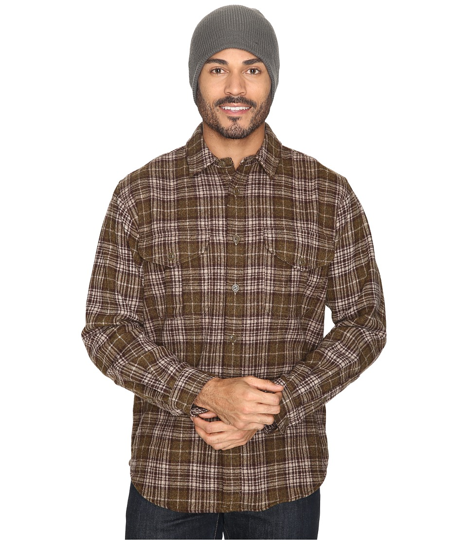 Filson - Northwest Wool Shirt (Dark Tan Plaid) Men's Clothing