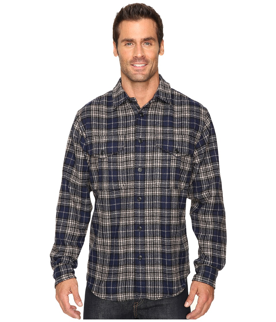 Filson - Northwest Wool Shirt (Dark Blue Plaid) Men's Clothing