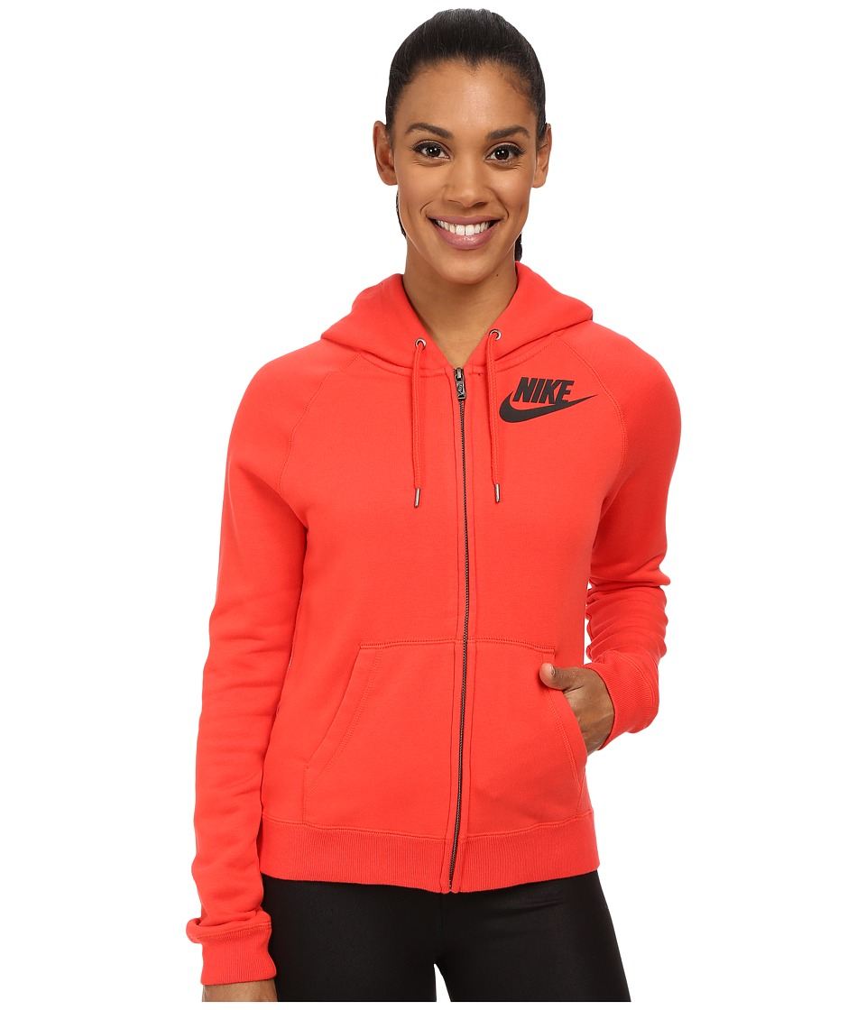 Nike - Rally Full-Zip Hoodie (Light Crimson/Light Crimson/Black) Women's Sweatshirt
