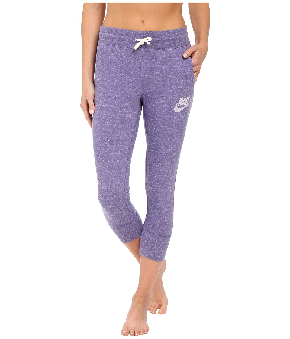 Nike - Gym Vintage Capris (Washed Purple/Sail) Women's Casual Pants