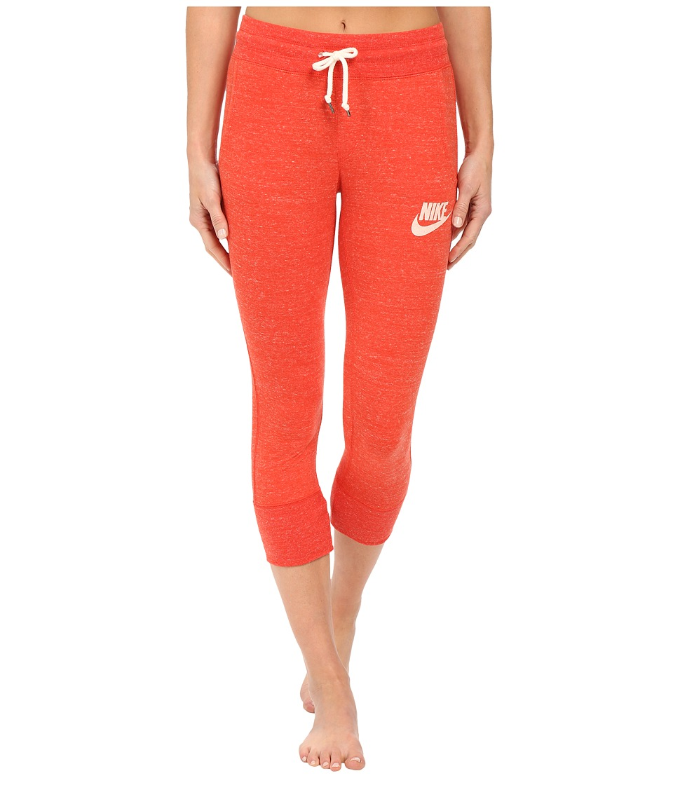 Nike - Gym Vintage Capris (Light Crimson/Sail) Women's Casual Pants