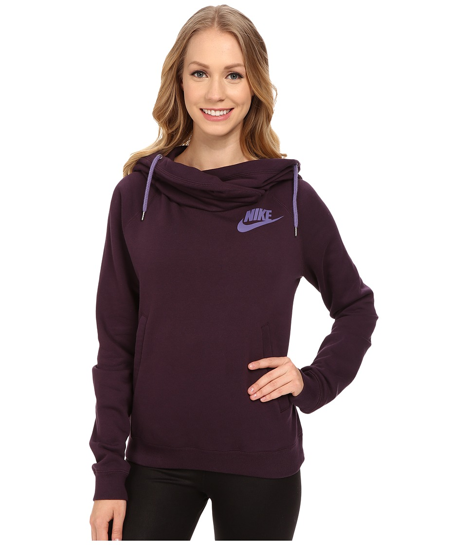 Nike - Rally Funnel Neck Hoodie (Noble Purple/Washed Purple/Washed Purple) Women's Sweatshirt