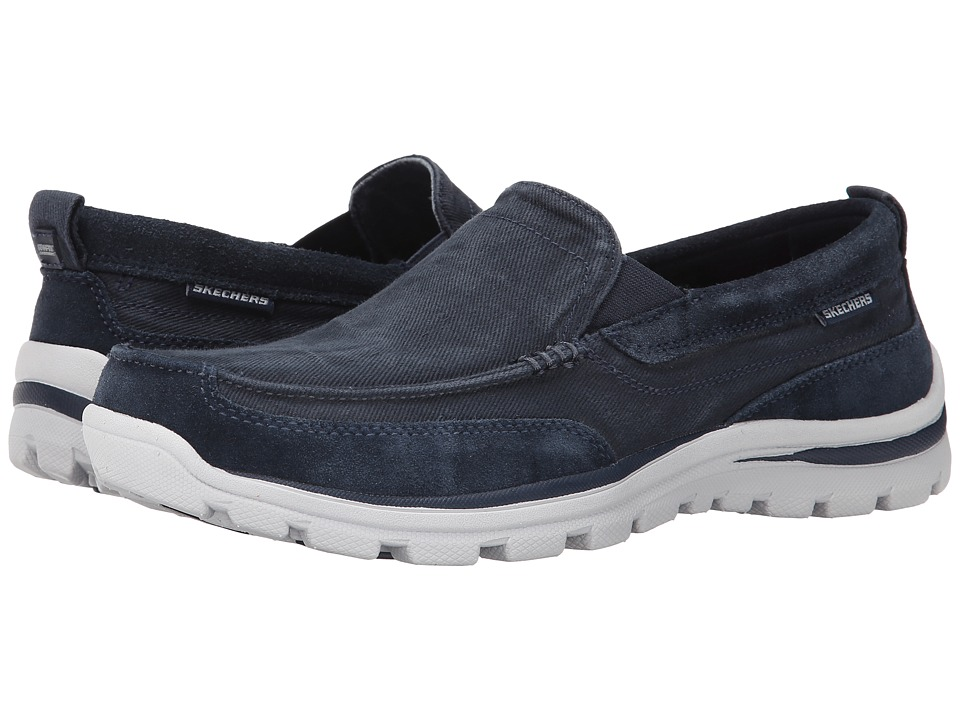 SKECHERS - Superior Melvin (Navy) Men's Slip on Shoes
