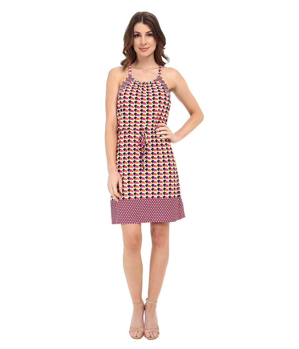 Laundry by Shelli Segal - Art Deco Dots Jersey Blouse (Shocking Pink Multi) Women's Dress