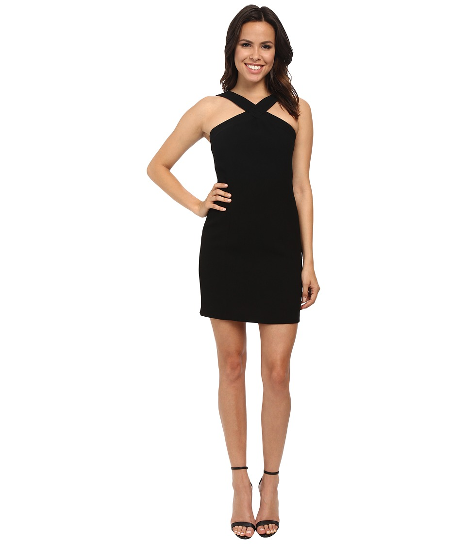 Laundry by Shelli Segal - Criss Cross Halter Crepe Dress (Black) Women's Dress