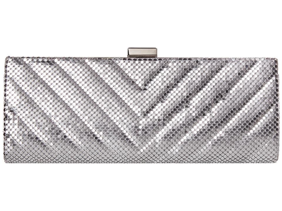Jessica McClintock - V Quilt Frame Clutch (Silver) Clutch Handbags