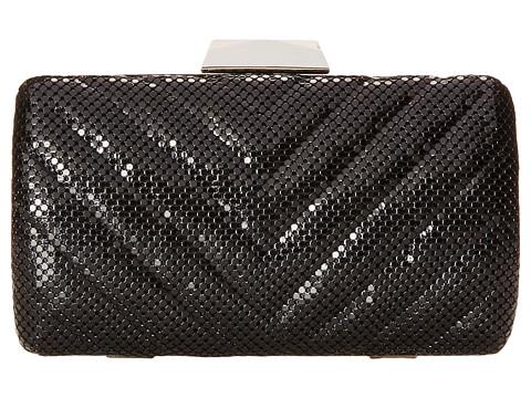 Jessica McClintock - V Quilt Minaudier (Black) Handbags