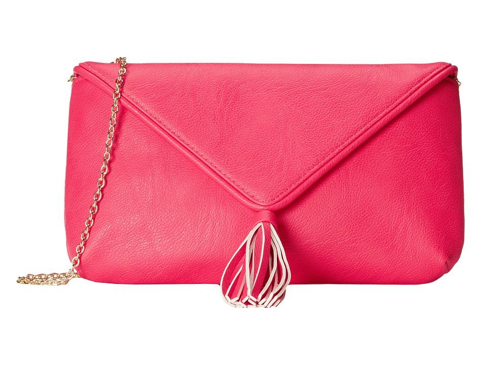 Jessica McClintock - Phoenix Tassel Envelope Clutch (Pink) Clutch Handbags