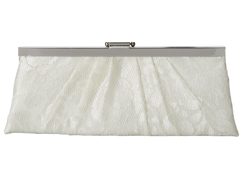 Jessica McClintock - Lace Frame Clutch (Ivory/Ivory) Clutch Handbags