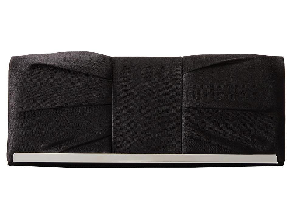 Jessica McClintock - Pleated Bar Clutch (Black) Clutch Handbags