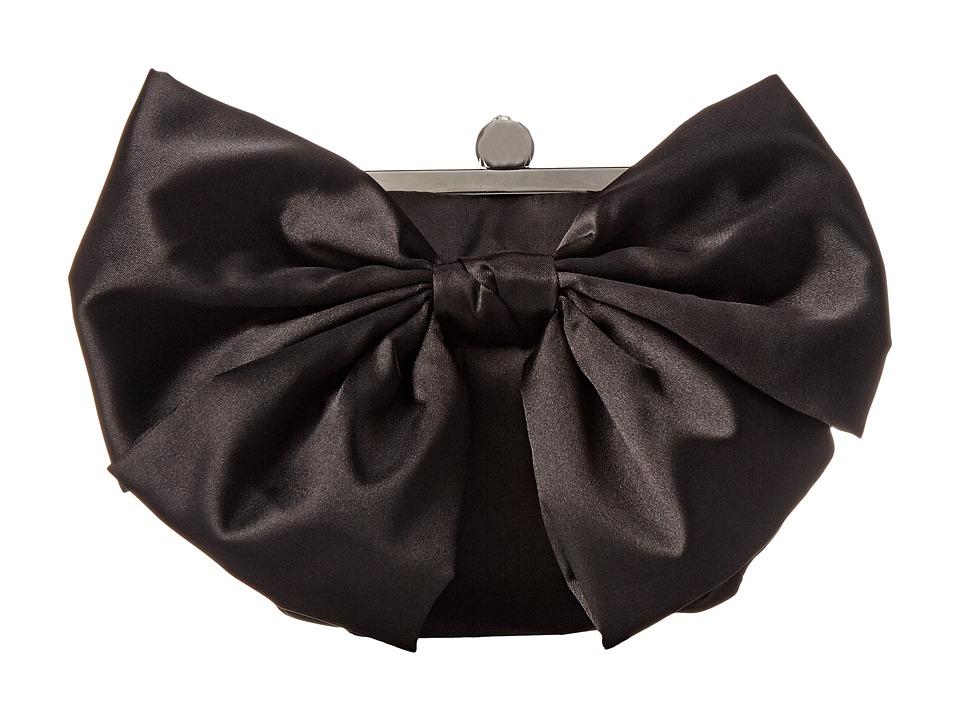 Jessica McClintock - Oversized Bow Pouchette (Black) Handbags