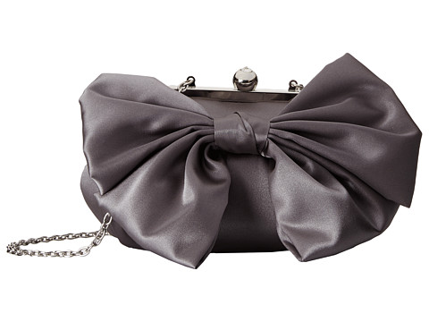 Jessica McClintock - Oversized Bow Pouchette (Pewter) Handbags