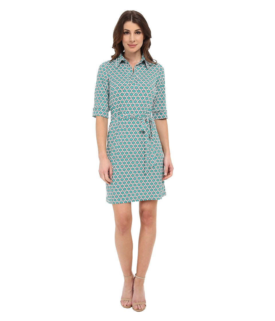 Laundry by Shelli Segal - Printed Matte Jersey Shirt Dress (Dynasty Green Multi) Women's Dress