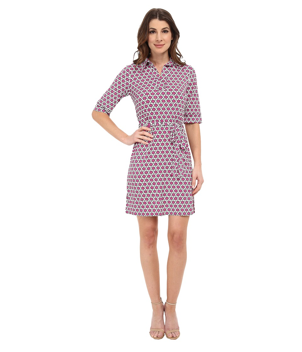 Laundry by Shelli Segal - Printed Matte Jersey Shirt Dress (Madge Multi) Women's Dress