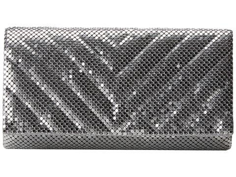 Jessica McClintock - V Quilt Mesh Clutch (Silver) Clutch Handbags