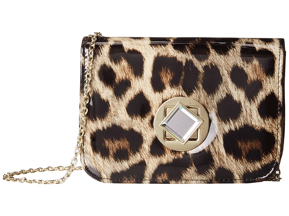 Jessica McClintock - Leopard Diamond Crossbody (Leopard) Cross Body Handbags