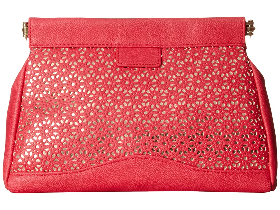 Jessica McClintock - Perforated Frame Clutch (Pink) Clutch Handbags