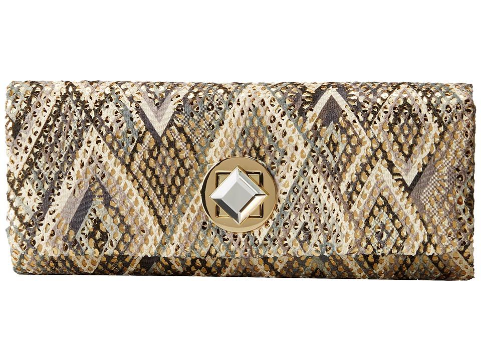 Jessica McClintock - Santorini Diamond Clutch (Blue Multi) Clutch Handbags