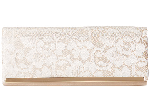Jessica McClintock - Lace Bar Clutch (Ivory/Champagne) Clutch Handbags