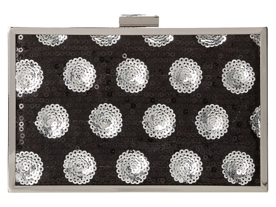 Jessica McClintock - Spot On Minaudier (Black/Silver) Handbags