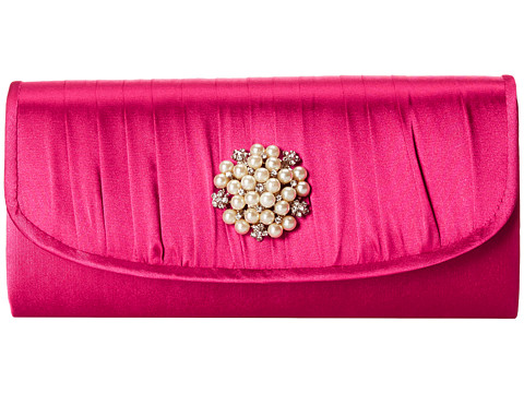Jessica McClintock - Pleated Pearl Clutch (Orchid) Clutch Handbags