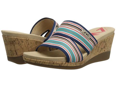 Anne Klein - AKPleasant (Blue Multi Stripe) Women's Wedge Shoes