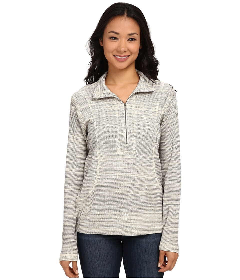 Tommy Bahama - Salt Meadow Waffle 1/2 Zip (Fossil Grey Heather) Women's Sweater