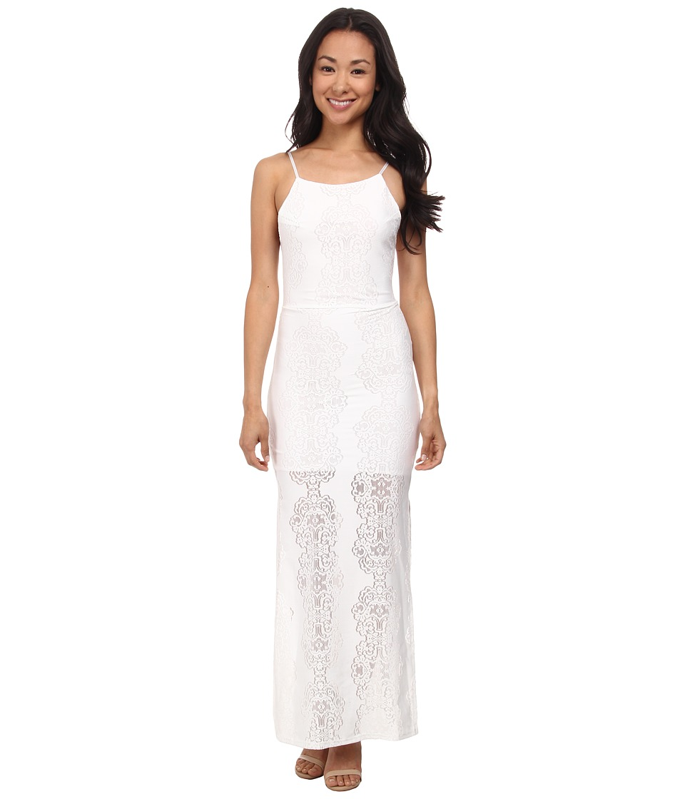 Brigitte Bailey - Daisy Crochet Backless Maxi Dress (Cream) Women's Dress