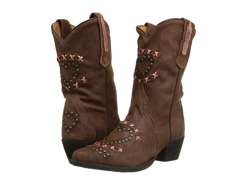 Dan Post Kids - Freckles (Toddler/Little Kid) (Chocolate Sanded) Cowboy Boots