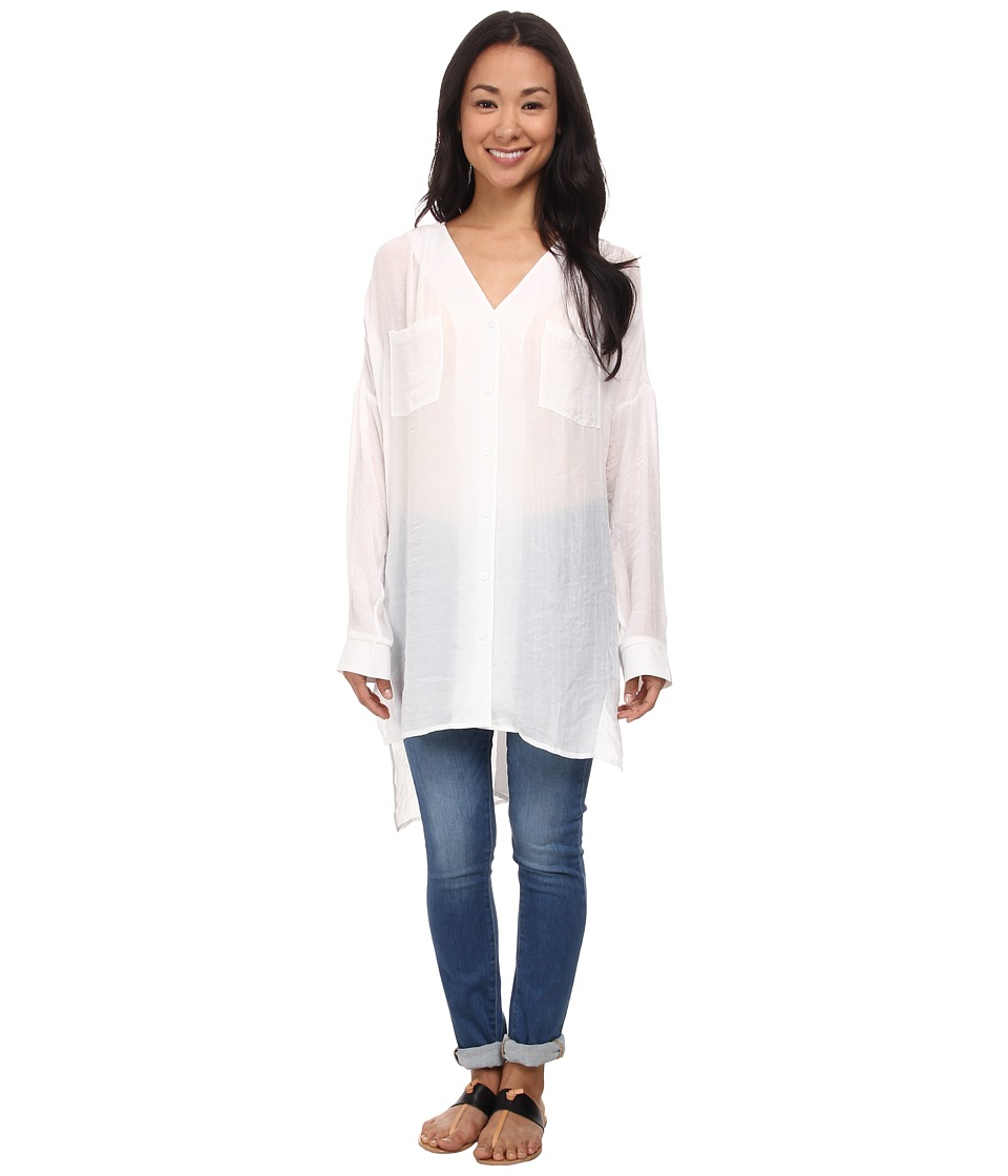 Brigitte Bailey - Sasha Long Sleeve Top (Off White) Women's Clothing