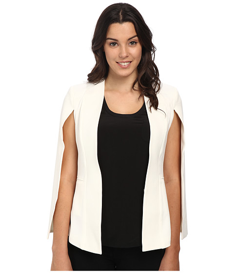 Brigitte Bailey - Dianna Cape/Blazer w/ Lining (White) Women's Jacket
